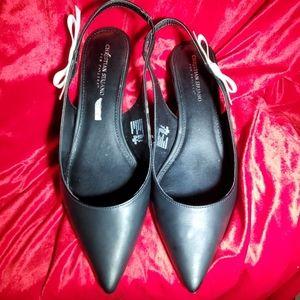 NWOT Super cute pointed toe sling back heels